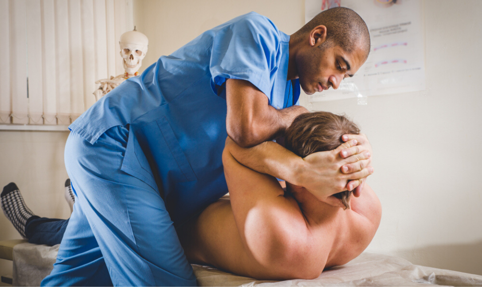 chiropractic care session